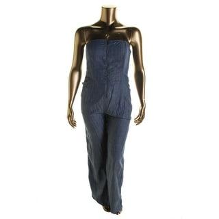 Rachel Rachel Roy Womens Denim Boning Jumpsuit - XL
