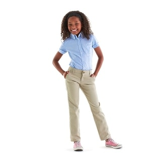 French Toast Girls Comfort Stretch Adjustable Waist Straight Leg Twill Pants - 6X