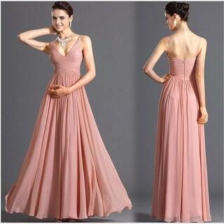 Link to Women's Deep V Backless Sexy Thin Skinny Chiffon Dress Bridesmaid Dress Similar Items in Dresses