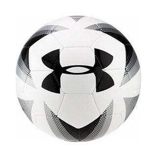 Under Armour Unisex 395 Machine Stitched Soccer Ball, White/Steel, 3 - white/steel