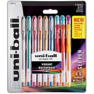 Assorted - Uni-Ball Gelstick .38Mm & .7Mm Pens 12/Pkg