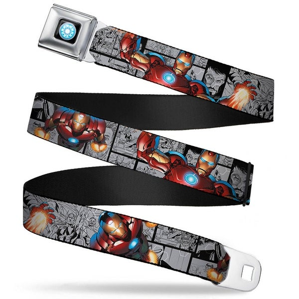 Marvel Avengers Iron Man Arc Reactor Full Color Iron Man 3 Action Poses Seatbelt Belt