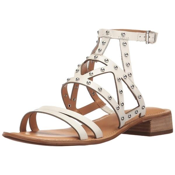 Franco Sarto Womens Alyssa Leather Open Toe Casual Strappy Sandals
