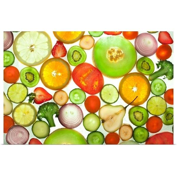 """Fruit and Veggies"" Poster Print"