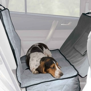 """K&H Pet Products Car Seat Saver Deluxe Extra Long Gray 57"""" x 56"""" x 0.25"""""""