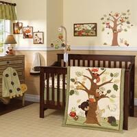Lambs & Ivy Echo Brown/Beige/Green Woodland Forest Animals 7-Piece Baby Crib Bedding Set