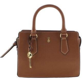 London Fog Womens Satchel Handbag Faux Leather Convertible - small