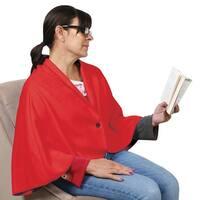 Women's Fleece Cape - Extra Warm Button-In Wearable Blanket - One size