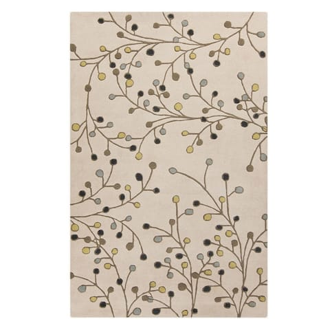 Sakura Handmade Transitional Floral Wool Area Rug