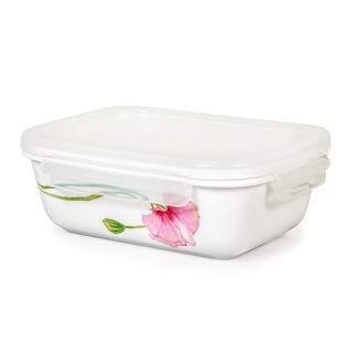 Lock & Lock Sophie 920ml /31oz Rectangular Ceramic Bowl