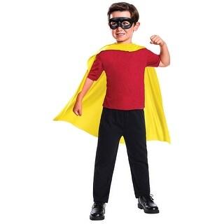 DC Comics Robin Cape & Mask Child Costume Set - Yellow