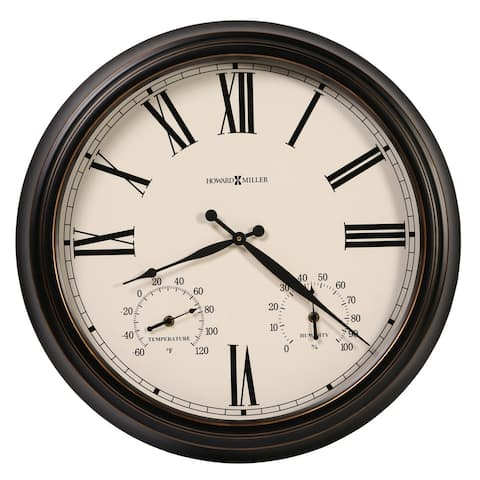 Howard Miller Aspen Brown and Ivory Wall Clock