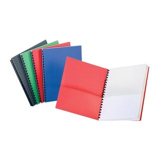 Oxford Portfolio with 8 White Pockets, 8-1/2 x 11 Inches, Assorted Colors