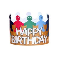 Happy Birthday Crowns Pack Of 24