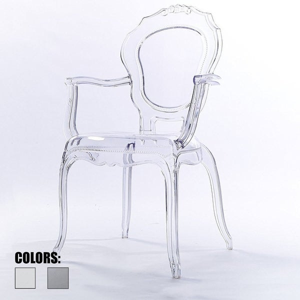 2xhome  Clear Plastic Dining Chairs Modern Design Home Designer Chair  Acylic   N/A