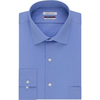 Van Heusen Mens Big & Tall Dress Shirt Tek-Fit Long Sleeves