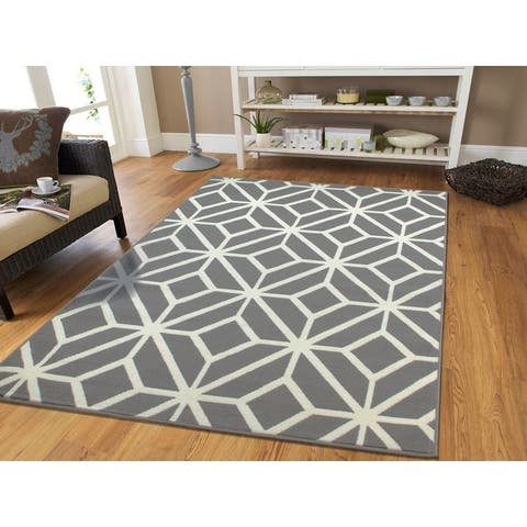 Carson Carrington Salvedal Modern Grey Moroccan Area Rug