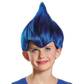 Trolls Dark Blue Wild & Wacky Vibrant Costume Wig Child