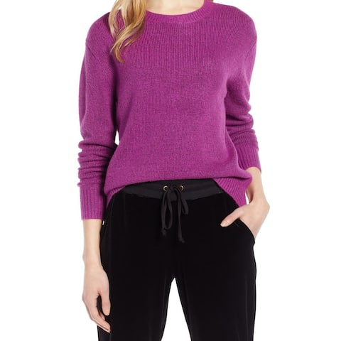 Halogen Womens Sweater Deep Purple Size Medium M Pullover Bow-Back