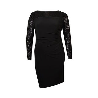 American Living Women's Pleated Sequin Sheath Dress - 16