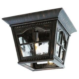 Trans Globe Lighting 5427 Chesapeake 3 Light Outdoor Flush Mount Ceiling Fixture