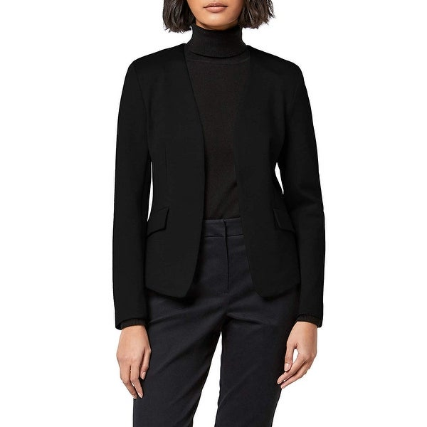 MERAKI Women's Collarless Stretch Jersey Comfort Blazer, Black, XXL (US 16) - 16. Opens flyout.