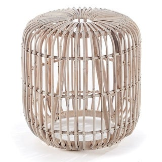 Napa Home and Garden RT200 18 1/2 Inch Wide Rattan Accent Stool - N/A