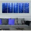 Statements2000 Blue Abstract Modern Metal Wall Art Panels by Jon Allen - Blue Synchronicity - Thumbnail 1