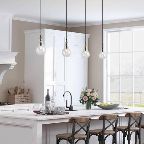 "Mid-century Modern 1-light Glass Island Pendant Lights for Dining Room - W5.9"" x H11.8"""