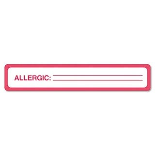Medical Labels for Allergy Warnings- 5-1/2 x 1- White- 175/Roll