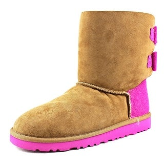 Ugg Australia K Bailey Bow Youth Round Toe Suede Multi Color Winter Boot