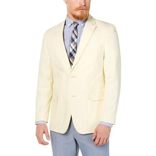 Tommy Hilfiger Mens Sportcoat Cotton Suit Separate - Light Yellow - 38R