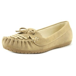 Baretraps Pansy Youth Round Toe Suede Tan Loafer