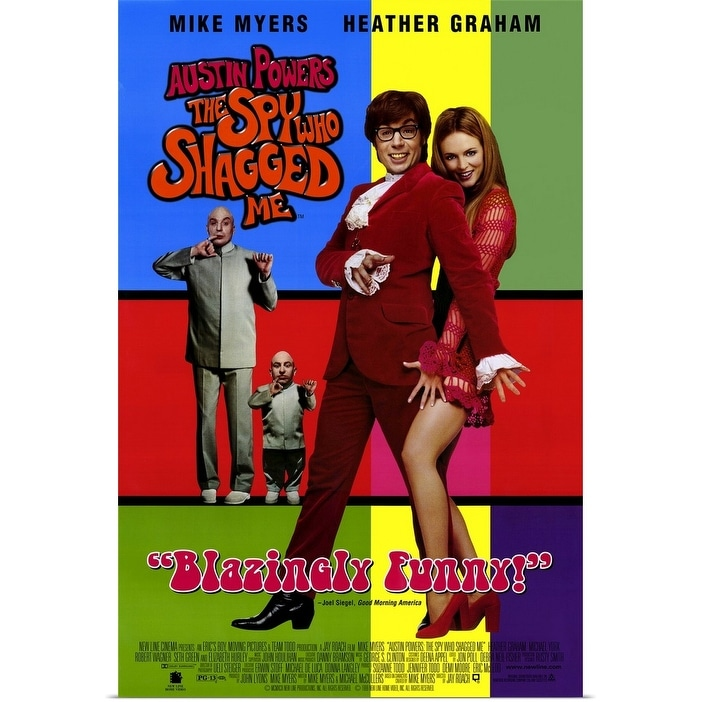 Shop Black Friday Deals On Austin Powers 2 The Spy Who Shagged Me 1999 Poster Print Overstock 25365381