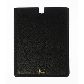 Dolce & Gabbana Dolce & Gabbana Black Leather iPAD Tablet eBook Cover