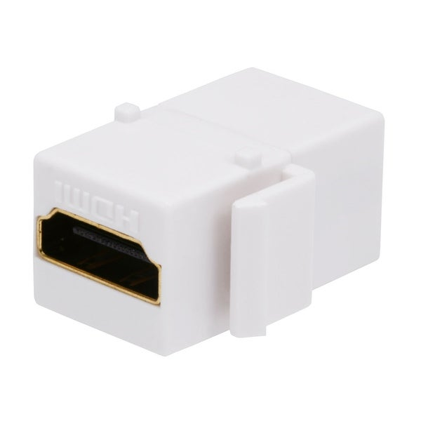Monoprice Keystone Jack HDMI Female to Female Coupler Adapter, White (No Logo)