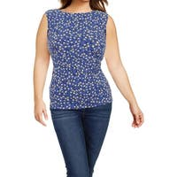 Anne Klein Womens Pullover Top Printed Business