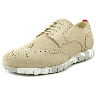 Kenneth Cole Reaction Sole-Ful Men Wingtip Toe Suede Nude Oxford
