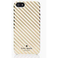 Kate Spade New York Clear Gold Market Street Diagonal Stripe Snap On Case for iPhone 6 Plus & 6s Plus