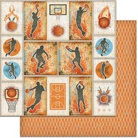 "Teenagers Double-Sided Cardstock 12""X12""-Basketball"