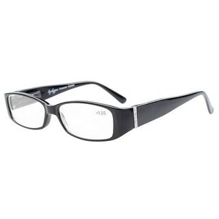 Eyekepper Reading Glasses with Genuine Austrian Crystals Women Black +0.75