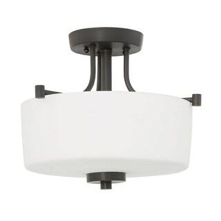 "Craftmade 43553 Clarendon 3 Light 13"" Wide Semi Flush Ceiling Light"