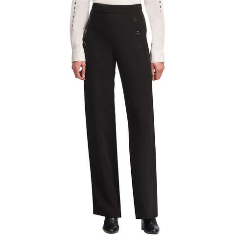 Dkny Womens Grommet-Trim Casual Trouser Pants