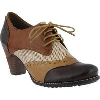 L'Artiste by Spring Step Women's Bardot Brown Multi Leather
