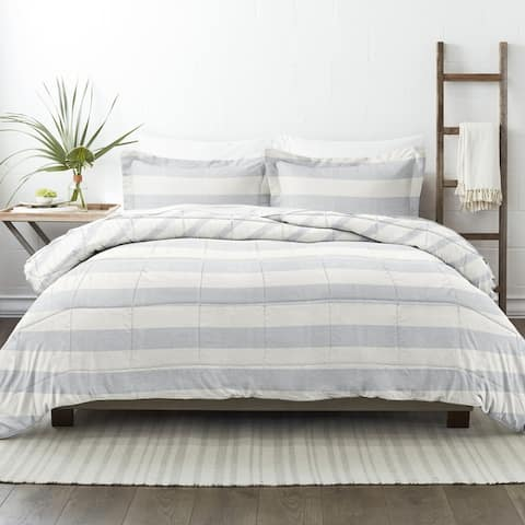 Becky Cameron Premium Distressed Stripe Reversible Comforter Set