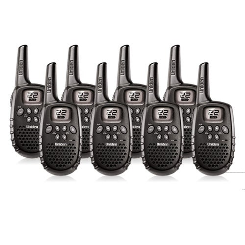 Uniden GMR1635-2 (8-Pack) Lightweight Two Way Radios with Channel Monitor