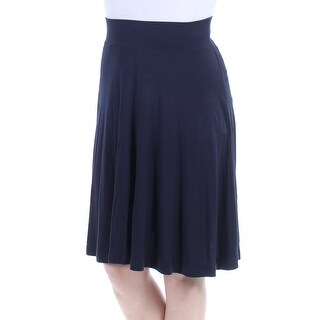 Womens Navy Above The Knee A-Line Skirt Size 2XS