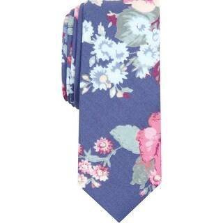 Penguin By Munsingwear Mens Maellaro Neck Tie Floral Professional - Navy - O/S