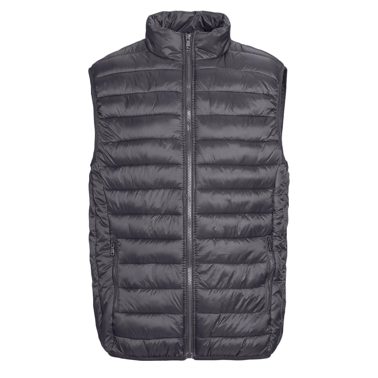 mens black size large packable down vest