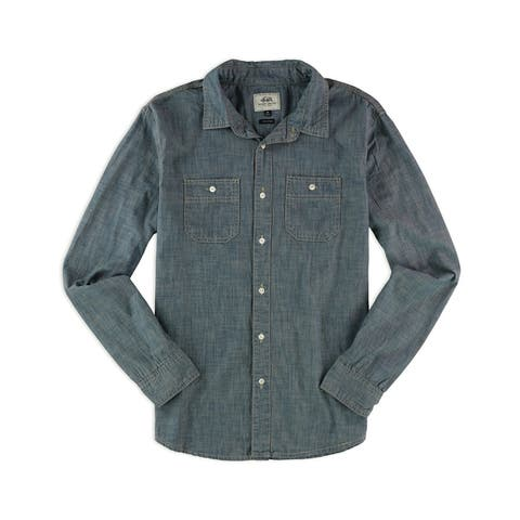 Ecko Unltd. Mens Crew Wash Chambray Button Up Shirt